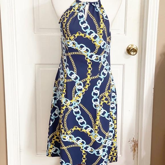 J. McLaughlin Catalina Cloth Maria Halter Dress
